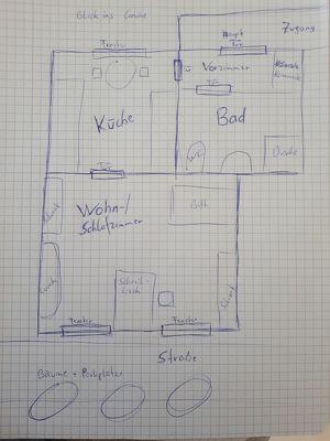 günstige, möblierte Wohnung in perfekter Lage