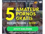 Gutschein für 5 Amateur Pornos der Amateur Community PornMe