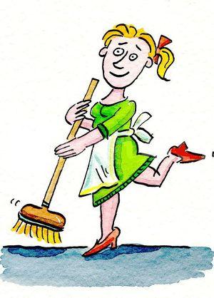 Putzfrau für Büro