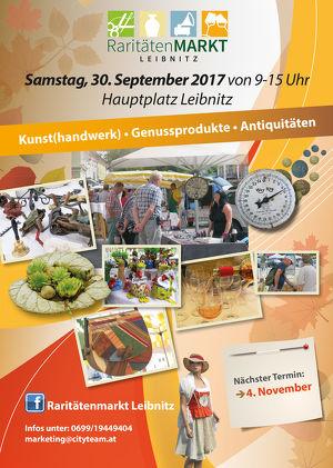 RARITÄTENMARKT am Samstag, 30. September 2017 Hauptplatz LEIBNITZ
