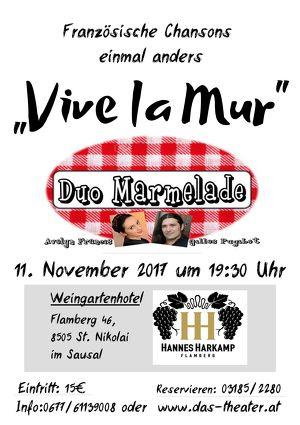 """Konzert mit """"Duo Marmelade"""" Französische Chansons """"Vive la MUR"""""""