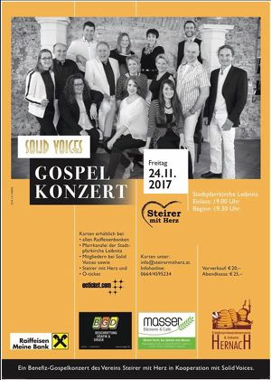 "Gospelkonzert mit ""Solid Voices"" in Leibnitz"