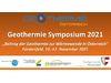 """Geothermie Symposium 2021: """"Geothermie in der Österreichischen Wärmewende"""""""